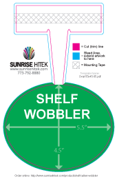 Shelf Talker Wobbler Free Template Oval
