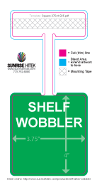 Shelf Talker Wobbler Free Template Rectangle