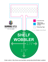 Shelf Talker Wobbler Free Template 2.75-in Circle