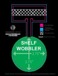 Shelf Wobbler Shelf Dangler Shelf Talker Shelf Display Aisle