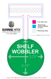Shelf Talker Wobbler Free Template Rectangle