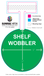 Shelf Talker Wobbler Free Template 5 Inch Circle